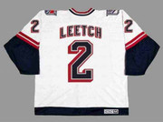 BRIAN LEETCH New York Rangers 1998 CCM Throwback Alternate NHL Jersey - BACK
