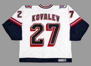 ALEX KOVALEV New York Rangers 1998 CCM Throwback Alternate NHL Jersey - BACK