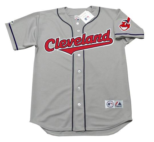 the latest 551af cf74d JIM THOME Cleveland Indians 1997 Majestic Throwback Away Baseball Jersey