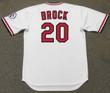 LOU BROCK St. Louis Cardinals 1976 Home Majestic Throwback Baseball Jersey - BACK