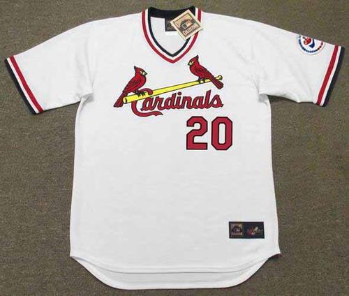 LOU BROCK St. Louis Cardinals 1976 Home Majestic Throwback Baseball Jersey - FRONT