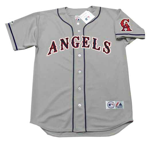 newest collection 0cfb0 d67e2 MIKE TROUT California Angels 1990's Majestic Throwback Away Baseball Jersey