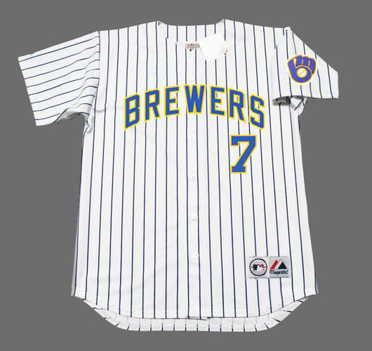 online store aac51 f9462 ERIC THAMES Milwaukee Brewers Majestic Alternate Home Baseball Jersey