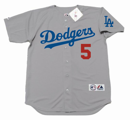 COREY SEAGER Los Angeles Dodgers 2017 Away Majestic Baseball Throwback Jersey - FRONT