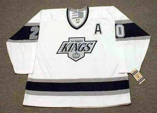 LUC ROBITAILLE Los Angeles Kings 1993 Home CCM Throwback NHL Hockey Jersey - FRONT