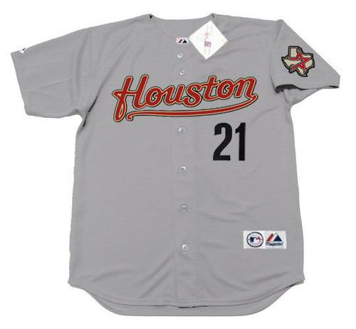 ANDY PETTITTE Houston Astros 2005 Majestic Throwback Away Baseball Jersey - FRONT