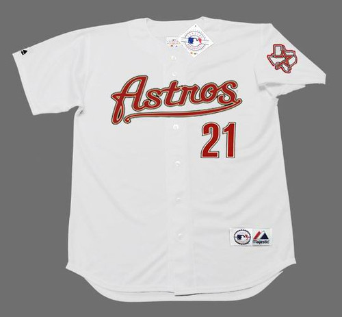 ANDY PETTITTE Houston Astros 2005 Majestic Throwback Home Baseball Jersey - FRONT