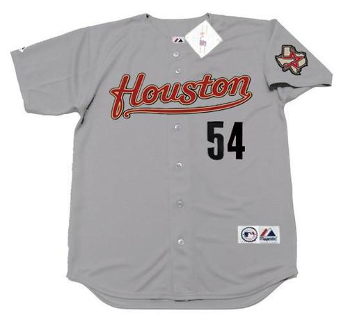 BRAD LIDGE Houston Astros 2005 Away Majestic Baseball Throwback Jersey - FRONT