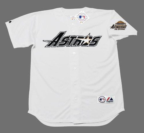 BRIAN HUNTER Houston Astros 1994 Home Majestic Baseball Throwback Jersey - FRONT