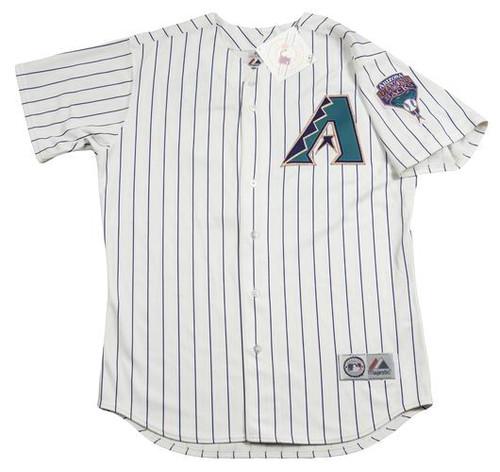 RANDY JOHNSON Arizona Diamondbacks 2001 Majestic Throwback Home Baseball Jersey - FRONT