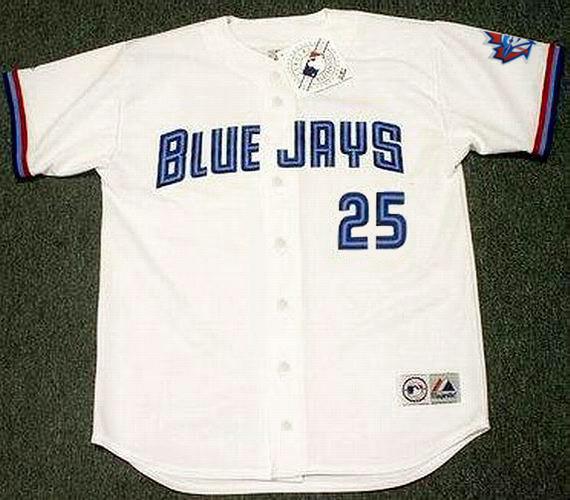 best loved a3613 22d35 CARLOS DELGADO Toronto Blue Jays 1997 Majestic Throwback Home Baseball  Jersey
