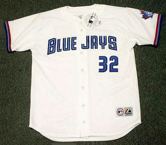 pretty nice 80526 04520 ROY HALLADAY Toronto Blue Jays 1999 Home Majestic Baseball Throwback Jersey