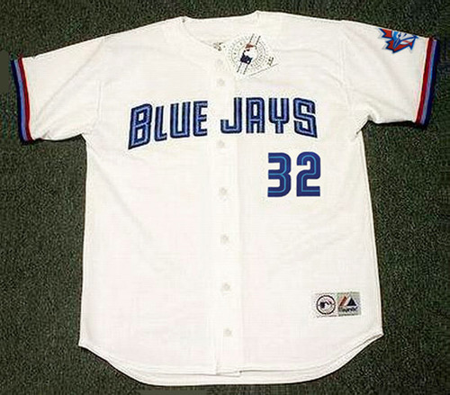 ROY HALLADAY Toronto Blue Jays 1999 Home Majestic Baseball Throwback Jersey - FRONT