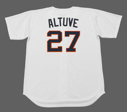 JOSE ALTUVE Houston Colt .45's 1960's Home Majestic Baseball Throwback Jersey - BACK