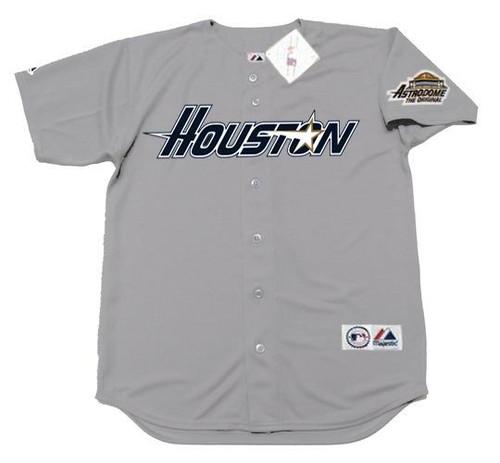 CRAIG BIGGIO Houston Astros 1994 Away Majestic Baseball Throwback Jersey - FRONT