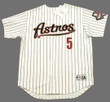 JEFF BAGWELL Houston Astros 2004 Home Majestic Baseball Throwback Jersey - FRONT