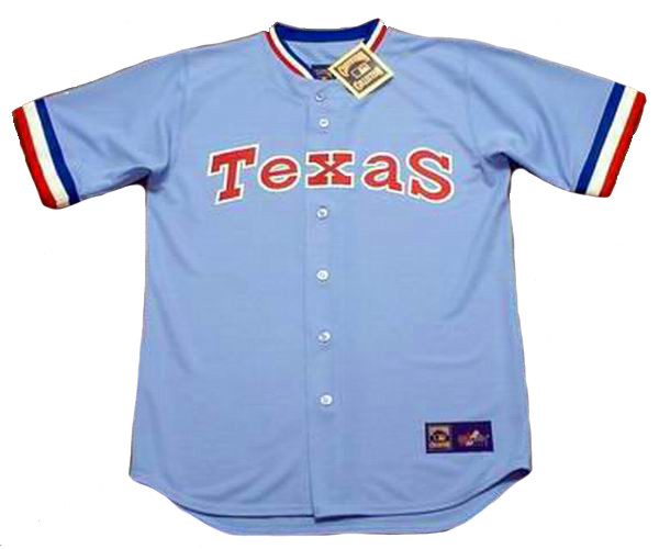 new product 40a48 ed37d ROUGNED ODOR Texas Rangers 1980's Majestic Cooperstown Throwback Baseball  Jersey