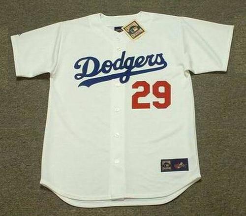 ADRIAN BELTRE Los Angeles Dodgers 1999 Home Majestic Vintage Baseball Jersey - FRONT