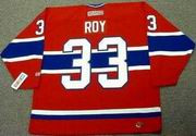 PATRICK ROY Montreal Canadiens 1993 Away CCM Throwback NHL Hockey Jersey - BACK