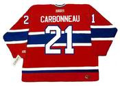 GUY CARBONNEAU Montreal Canadiens 1993 CCM Throwback Away NHL Hockey Jersey