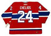 CHRIS CHELIOS Montreal Canadiens 1990 CCM Throwback Away NHL Jersey