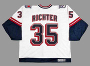 MIKE RICHTER New York Rangers 1998 CCM Throwback Alternate NHL Jersey - BACK