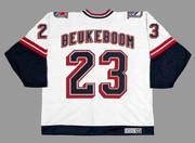 JEFF BEUKEBOOM New York Rangers 1998 CCM Throwback NHL Hockey Jersey - BACK