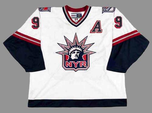 1998 New York Rangers CCM Vintage ADAM GRAVES NHL throwback jersey - FRONT