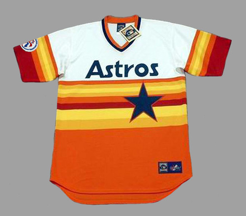CESAR CEDENO Houston Astros 1976 Home Majestic Baseball Throwback Jersey - FRONT