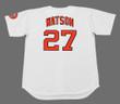 BOB WATSON Houston Astros 1971 Home Majestic Baseball Throwback Jersey - BACK
