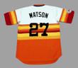 BOB WATSON Houston Astros 1976 Home Majestic Baseball Throwback Jersey - BACK