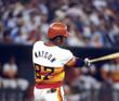 BOB WATSON Houston Astros 1976 Home Majestic Baseball Throwback Jersey - ACTION