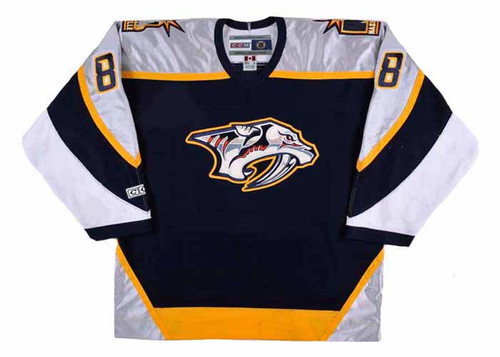Stu Grimson 2001 Nashville Predators NHL Throwback Hockey Jersey - FRONT