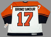 ROD BRIND'AMOUR Philadelphia Flyers 1997 CCM Throwback Home NHL Hockey Jersey - Back
