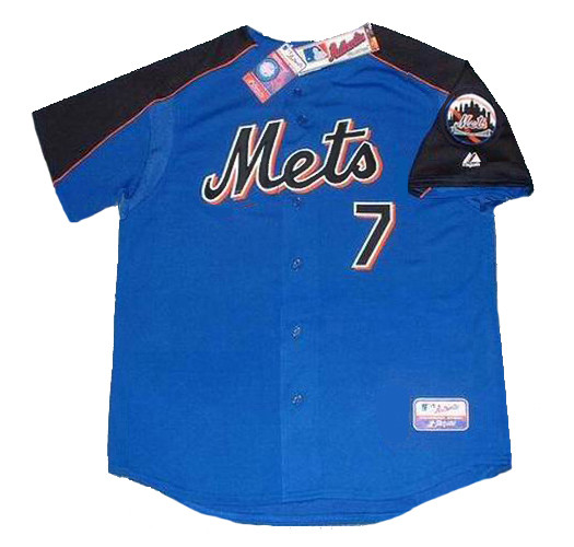 finest selection 73ec6 0c854 JOSE REYES New York Mets 2005 Majestic Authentic Throwback Baseball Jersey
