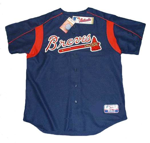 outlet store e80a7 0ba93 ATLANTA BRAVES 2003 Majestic Authentic Throwback Baseball Jersey