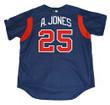 ANDRUW JONES Atlanta Braves 2003 Majestic Authentic Throwback Baseball Jersey - Back