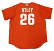 CHASE UTLEY Philadelphia Phillies 2003 Majestic Authentic Throwback Baseball Jersey - Back