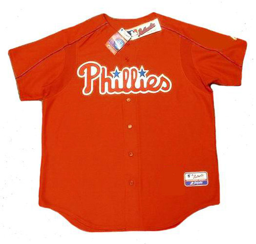 BOBBY ABREU Philadelphia Phillies 2003 Majestic Authentic Throwback Baseball Jersey - Front