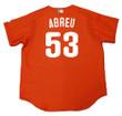 BOBBY ABREU Philadelphia Phillies 2003 Majestic Authentic Throwback Baseball Jersey - Back