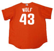 RANDY WOLF Philadelphia Phillies 2003 Majestic Authentic Throwback Baseball Jersey - Back