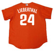 MIKE LIEBERTHAL Philadelphia Phillies 2003 Majestic Authentic Throwback Baseball Jersey - Back