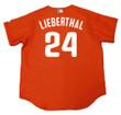 MIKE LIEBERTHAL Philadelphia Phillies 2003 Majestic Authentic Throwback Baseball Jersey - Back