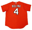 YADIER MOLINA St. Louis Cardinals 2006 Majestic Authentic Throwback Baseball Jersey - Back
