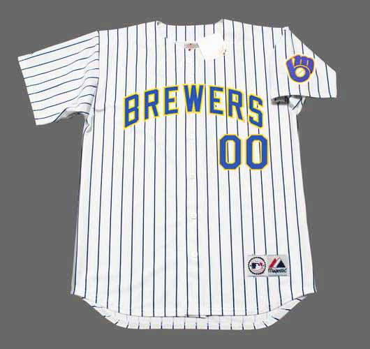 new arrival 5b76e 96497 MILWAUKEE BREWERS Majestic Alternate Home Jersey Customized