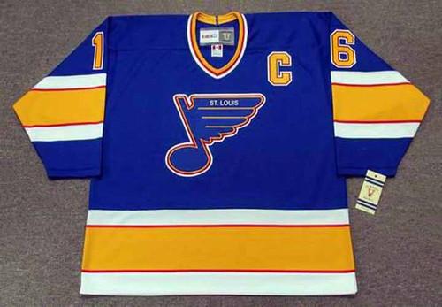 Brett Hull 1991 St. Louis Blues CCM Vintage NHL Throwback Hockey Jersey - FRONT
