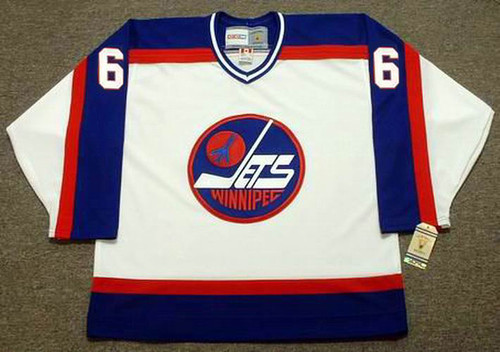 BARRY MELROSE Winnipeg Jets 1979 Home CCM NHL Vintage Throwback Jersey - FRONT