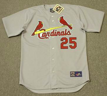official photos a349d a93ba MARK MCGWIRE St. Louis Cardinals 1997 Majestic Throwback Cooperstown Away  Jersey