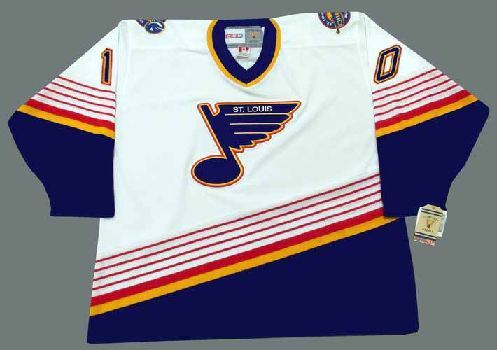 581b1654d ESA TIKKANEN St. Louis Blues 1995 Home CCM NHL Vintage Throwback Jersey -  ACTION. Image 4. See 3 more pictures