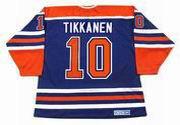 ESA TIKKANEN Edmonton Oilers 1987 Away CCM NHL Vintage Throwback Jersey